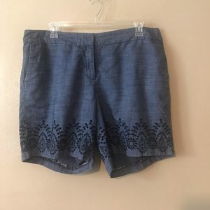 Talbots denim shorts size 18W 100% Cotton